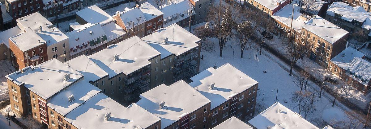 Déneigement toit plat à Terrebonne