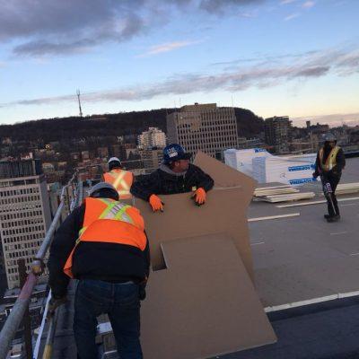 Toit membrane à Montréal